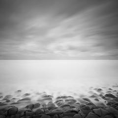Rock, Sea & Sky (Weeman76) Tags: uk longexposure sea bw seascape west monochrome mono nikon south somerset minimal le minimalist limestonepavement d90 kilve sigma1020mmf456exdchsm nd110 niksoft silverefexpro2