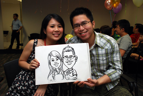 caricature live sketching for iFast Financial Pte Ltd - 8