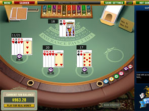 Multi-Hand Blackjack Win