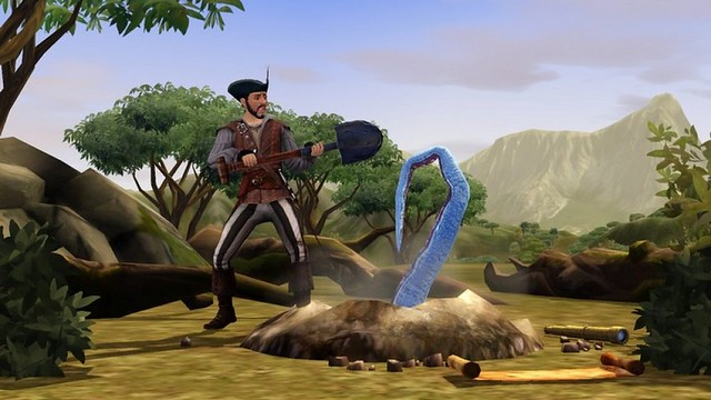 Sims Pirate Treasure Hunting