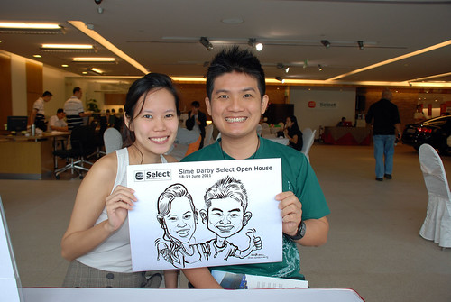 Caricature live sketching for Sime Darby Select Open House Day 1 - 4