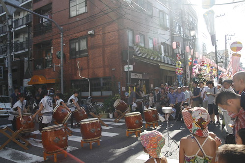 Taiko performance at Kappabashi