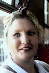 Wartime Siren (Time Grabber) Tags: portrait train 1940s siren wfc landgirl timegrabber blaenavon1940swfc