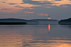 Fog at the lake (Palosaari) Tags: summer lake fog suomi finland sony 85mm sysmä kesä järvi sumu päijänne a500 samyang