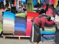 Otavalo market textiles