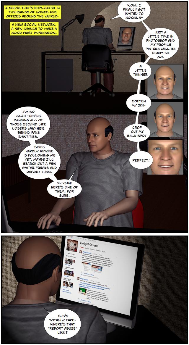 Botgirl vs. Human: Google+ Identity 01