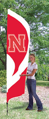 Nebraska Huskers Tall Feather Flag
