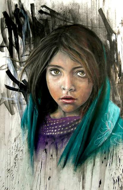 Afghan Girl by Adnate