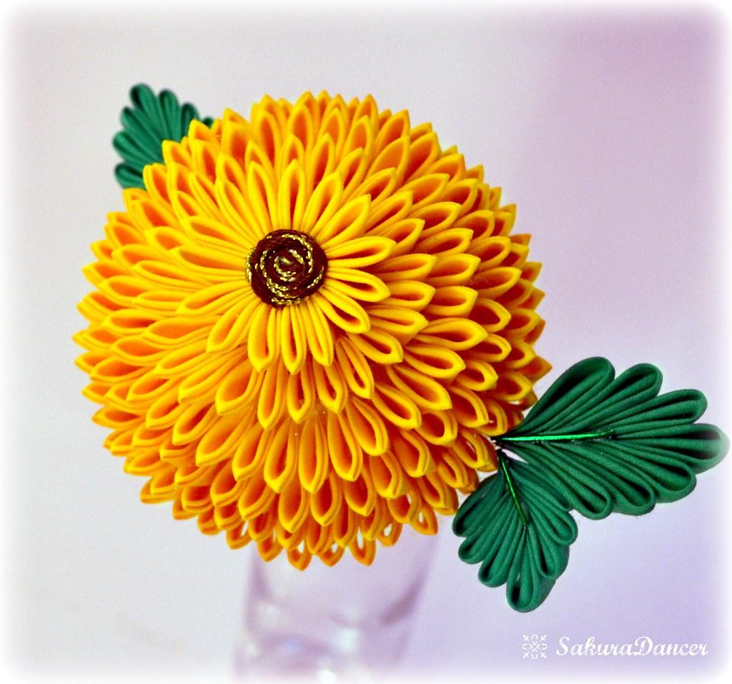 Summer chrysanthemum Kanzashi Hair Stick