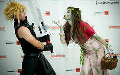 zombie aeris back from the grave to once again romance cloud strife (Joits) Tags: cloud losangeles ax animeexpo finalfantasyvii aeris cloudstrife aerith aerisgainsborough aerithgainsborough zombieaeris zombieaerith animeexpo2011 ax2011
