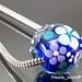 Charm bead: blue flower blossom