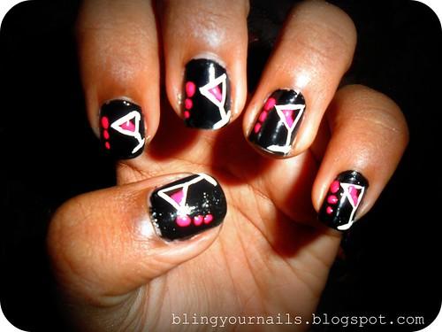 White Nail Art Pink