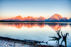 Sunrise at Jackson Lake by Trish McGinity