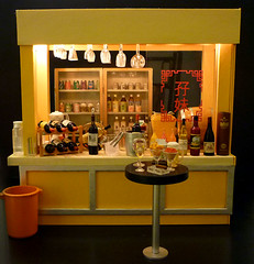 The Bar (karenisme08) Tags: water beer glass coffee bar miniature wine juice barrel mimo liquor alcohol soda 711 redwine rement sangria whitewine icecube seveneleven softdrink orcara