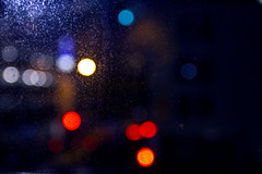 Dirty Window (Tim Bow Photography) Tags: city nightphotography blue red newzealand orange abstract color colour window yellow night circle bokeh minimal dirt auckland starbucks nz british welsh minimalism minimalist dirtywindow svenska 550d psdtuts canon550d timboss81 timbowphotography