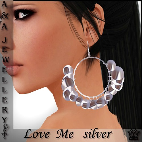 A&Ana Earrings [love me] silver