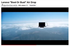 Dropping a laptop from about 30,000 feet