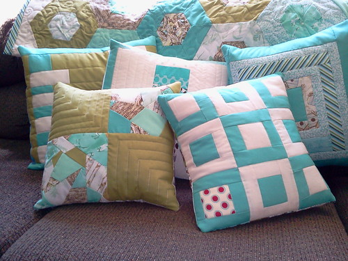 Couch pillows by redfirquilter