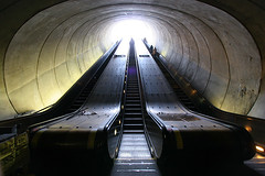 Dupont Circle Escalators (stormdog42) Tags: urban underground subway washingtondc washington districtofcolumbia escalator tunnel dupontcircle