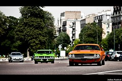 The best seventies Muscle-Cars ! (Valkarth) Tags: orange verde green cars 1971 muscle plymouth vert 71 voiture coche dodge hemi cuda arancio 440 challenger magnum 340 vitamine baracuda 383 chally 340ci 440ci