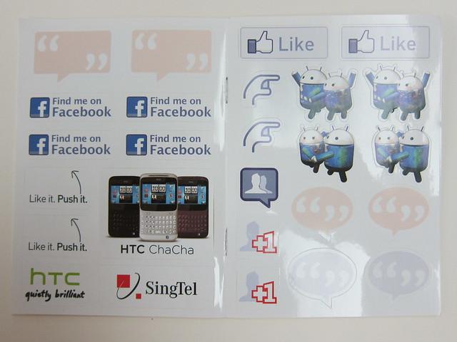 Door Gift - Facebook Stickers