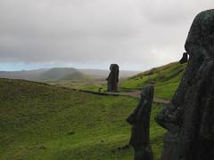Rano Raraku (jleathers) Tags: chile southamerica cloudy moai easterisland rapanui isladepascua ranoraraku 2011