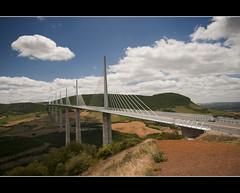Millau bridge (Focusje (tammostrijker.photodeck.com)) Tags: world sky cloud france car great tall brigde millau tallest
