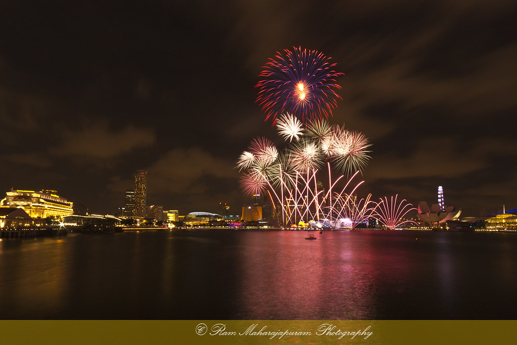 Singapore - Fireworks on Marina Bay
