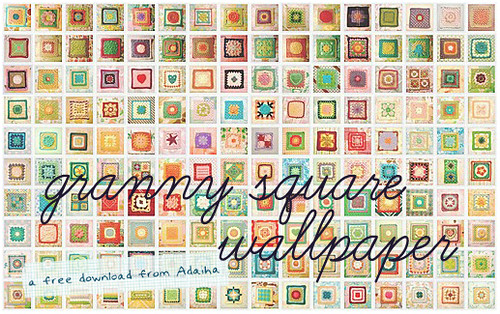 granny square wallpaper