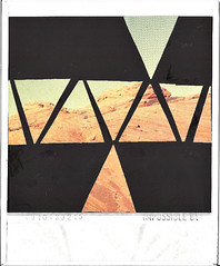 desert dreamin' (artsn'crafts) Tags: arizona collage triangles polaroid triangle desert impossibleproject