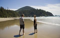 Abraham and Shey (dkjd) Tags: beach june abraham oregoncoast shey oswaldstatepark summer2011