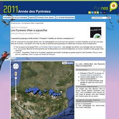 Les Pyrénées d'hie ret aujourd'hui sur google maps