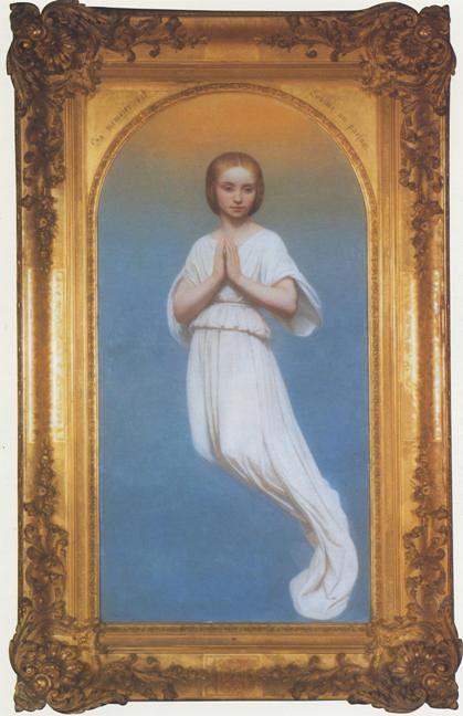 Ary Scheffer, Figure d'ange représentant Mademoiselle de Montblanc après sa mort (1847)