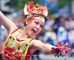 Yosaki Dance Festival Japan.  (Hirosaki Japan).  Glenn Waters.  1,500 visits to this photo.   Thank you. (Glenn Waters in Japan.) Tags: street festival japan japanese dance action bokeh  hirosaki matsuri japon yosakoi      d700 nikond700  glennwaters