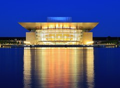 The Copenhagen Opera House Bl Time (Blue Hour) (Maria_Globetrotter) Tags: summer night reflections copenhagen denmark europe july clear bluehour operahouse kopenhavn kpenhamn 2011 operaen supershot bltime