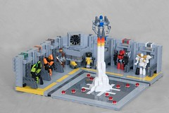 Blast-off (ted @ndes) Tags: lego hangar system launch base mecha minibot moc exoforce microscale