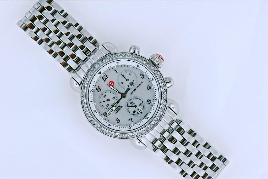 Michele Diamond Bezel Watch: Donated By I W Marks Jewelers