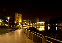 RiverTorrens (neutraldays) Tags: city water night torrens longexp