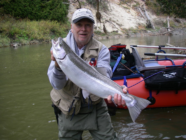 Larry with a Notty Steelhead