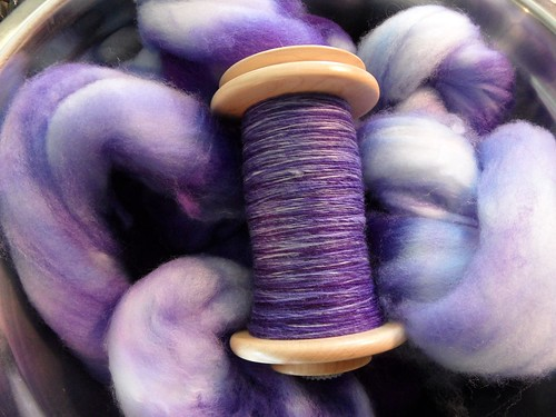 Tour de Fleece - day 18-sw merino - dyed it myself