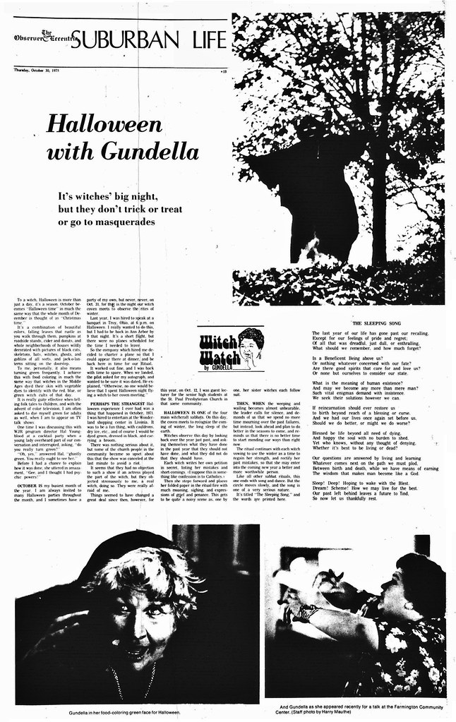 Halloween With Gundella; The canton Observer, October 30, 1975