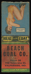 Beach Coal Company in Valparaiso, Indiana - Matchcover (Shook Photos) Tags: woman sexy promotion advertising valparaiso indiana babe smoking advertisement honey match matches swimsuit promotional girlie matchbook advertise beachcoal portercounty matchcover valparaisoindiana beachcoalcompany