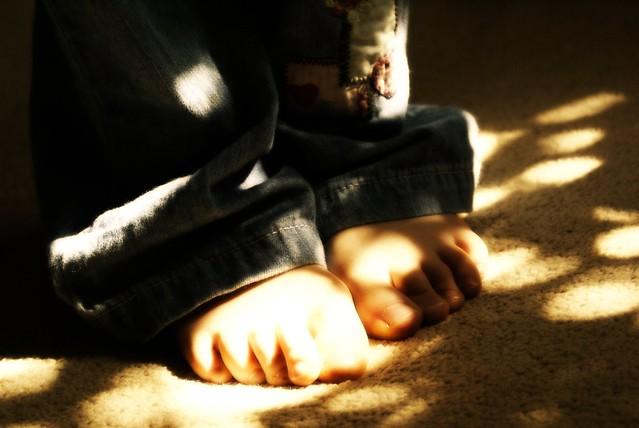 feet in sunlight