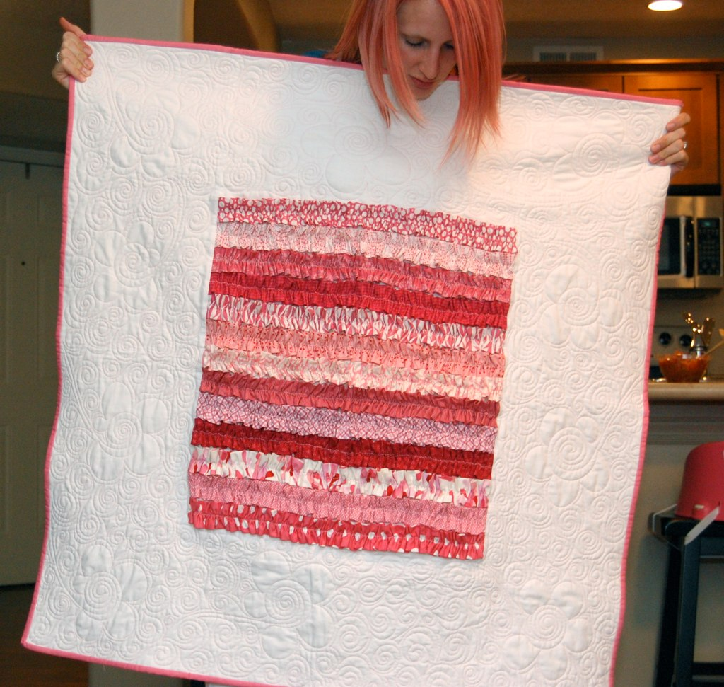 Pink's ruffle quilt