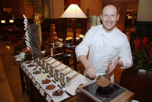 Executive Pastry Chef Chris Busschaert at the Hot Chocolate Station