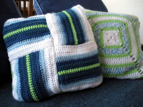 2 in 1 Blues and Green Pillow Covers