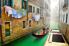 The Echo of a Dream (Ben Heine) Tags: life voyage street trip travel venice houses windows people italy music mist building brick green art