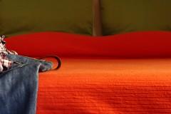 United colors of my bedroom (Beat Rice) Tags: orange verde green bed clothes jeans arancio letto activeassignmentweekly bestofweek1 bestofweek2 bestofweek3 bestofweek4