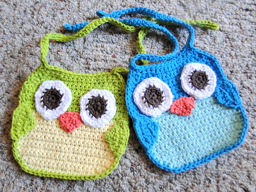 Crochet Spot » Blog Archive » Crochet Pattern: Animal Baby Bibs