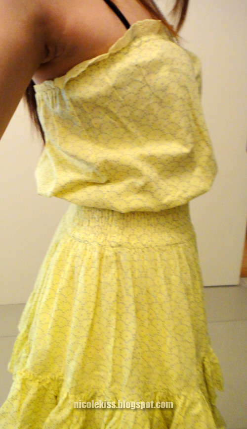 victoria secret yellow sundress side profile